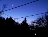 Venus, Mercury, Moon Feb 6 2015